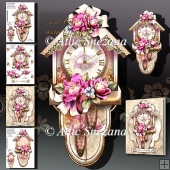 Beautiful Vintage Wall Clock with Roses