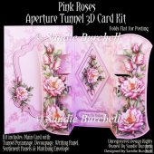 Pink Roses Aperture Tunnel 3D Card Kit
