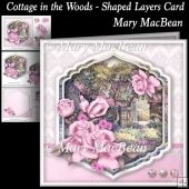 Cottage in the Woods - Shaped Layers Card