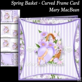 Spring Basket - Curved Frame Card