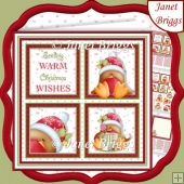 CHRISTMAS ROBINS SQUARES 7.5 Quick Layer Card & Insert Kit