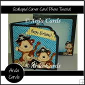 Scalloped Corner Card Photo Tutorial