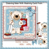 Cleaning Bear With Washing Card Front