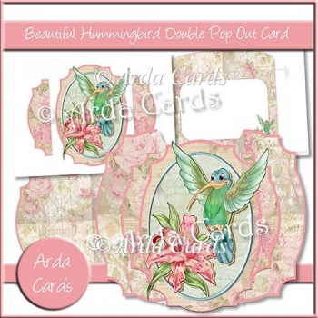 Beautiful Hummingbird Double Pop Out Card