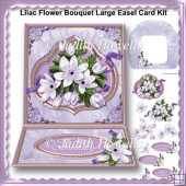 Lilac Flower Bouquet Large Easel Card Kit