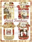French Farmhouse Mason Jar Diecut Shapes for Cards, Tags, Crafts