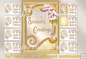 CHristmas Card with six sentiment plaques