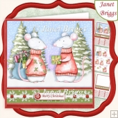 CHRISTMAS GIFTING MICE 7.5 Decoupage & Insert Kit