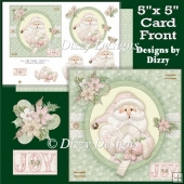 Christmas Rose Santa Card Front