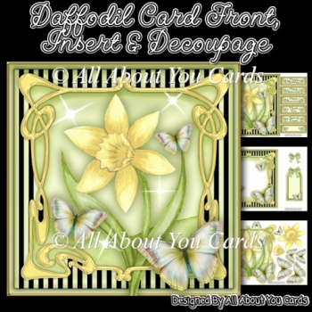 Daffodil Card Front & Insert