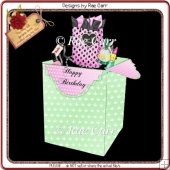 764 Love Shopping Pop Up Box Card *HAND & Machine Formats*