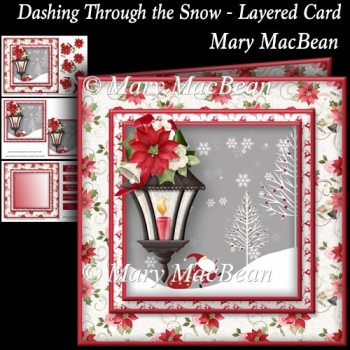 Dashing Through the Snow - Layered Card