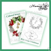 Christmas Wreath Digital Stamp