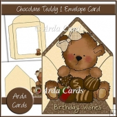 Chocolate Teddy 1 Envelope Card