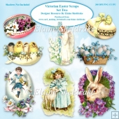 Victorian Easter Scraps Set Two PNG 300 dpi CU