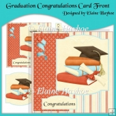 Graduation Congratulations Card Front with Decoupage