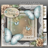 Blue Butterflies Mini Kit