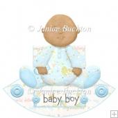 Cute Baby Boy Rocker Card