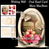 Wishing Well - Oval Easel Card