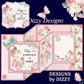 Floral Double Z Fold Card