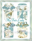 My Fair Lady Mason Jar Diecut Shapes for Cards, Tags, Crafts