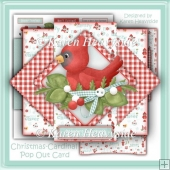 Christmas-Cardinal Pop Up Card