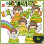 Little Irish Angels Commercial Use Clip Art