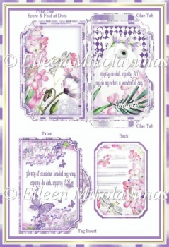 Zippity Do Dah Spring Bunny Side Opening Pocket Card Set