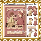 The Proposal Engagement Decoupage Card Front