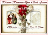 Winter Memories Open Book Card Insert