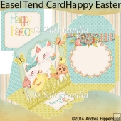 Happy Easter Easel Tent Card