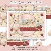 Teddy Love 2 - Card Front & Decoupage