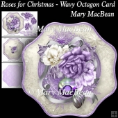 Roses for Christmas Wavy Octagon Card