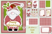 Santa And Robin Christmas Card Kit with inserts and envelope