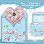 Breath Freshair Heart Shaped Peek-A-Boo Card