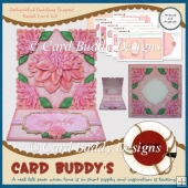 Delightful Dahlias Shaped Easel Card Kit