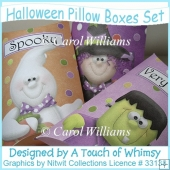 Halloween Pillow Boxes Set
