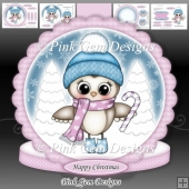 Olivia Owl With Candy Cane Mini Kit