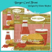 Burger Card Front with Decoupage