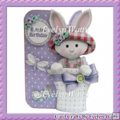 Pretty Bunny Shaped Card Kit With Assorted Greetings Tags
