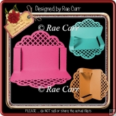 835 Scalloped Lattice Folded Card *Multiple MACHINE Formats*