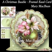 A Christmas Bauble - Framed Easel Card