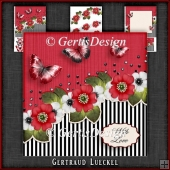 Vintage Stripes and Flowers Card Kit 1094