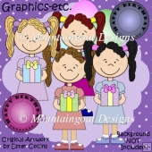 Birthday Girls - Clip Art