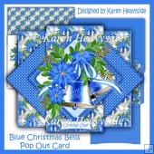 Blue Christmas Bells Pop Up Card