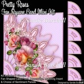 Pretty Roses Fan Square Card Mini Kit