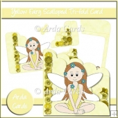 Yellow Fairy Scalloped Trifold Card