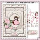 Chocolates Roses And Ted Card Front