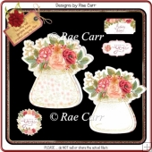 978 Floral Jar Shaped Card