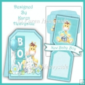 Babyboy Popout Banner Card Kit